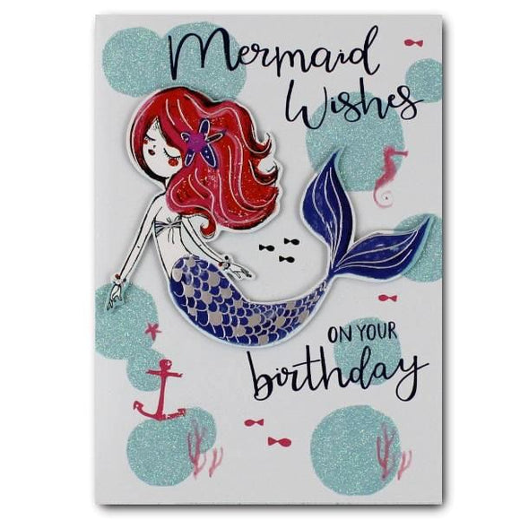Yours Truly mermaid wishes on your birthday cards for kids Nickery Nook