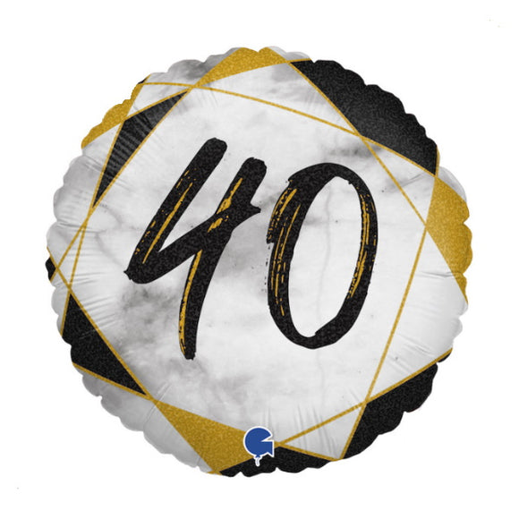40th Birthday Helium Balloons - Various Designs
