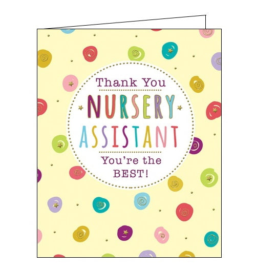 sloan graphics thank you nursery assistant card Nickery nook
