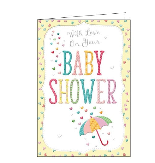 words 'n' wishes baby shower congratulations card Nickery Nook