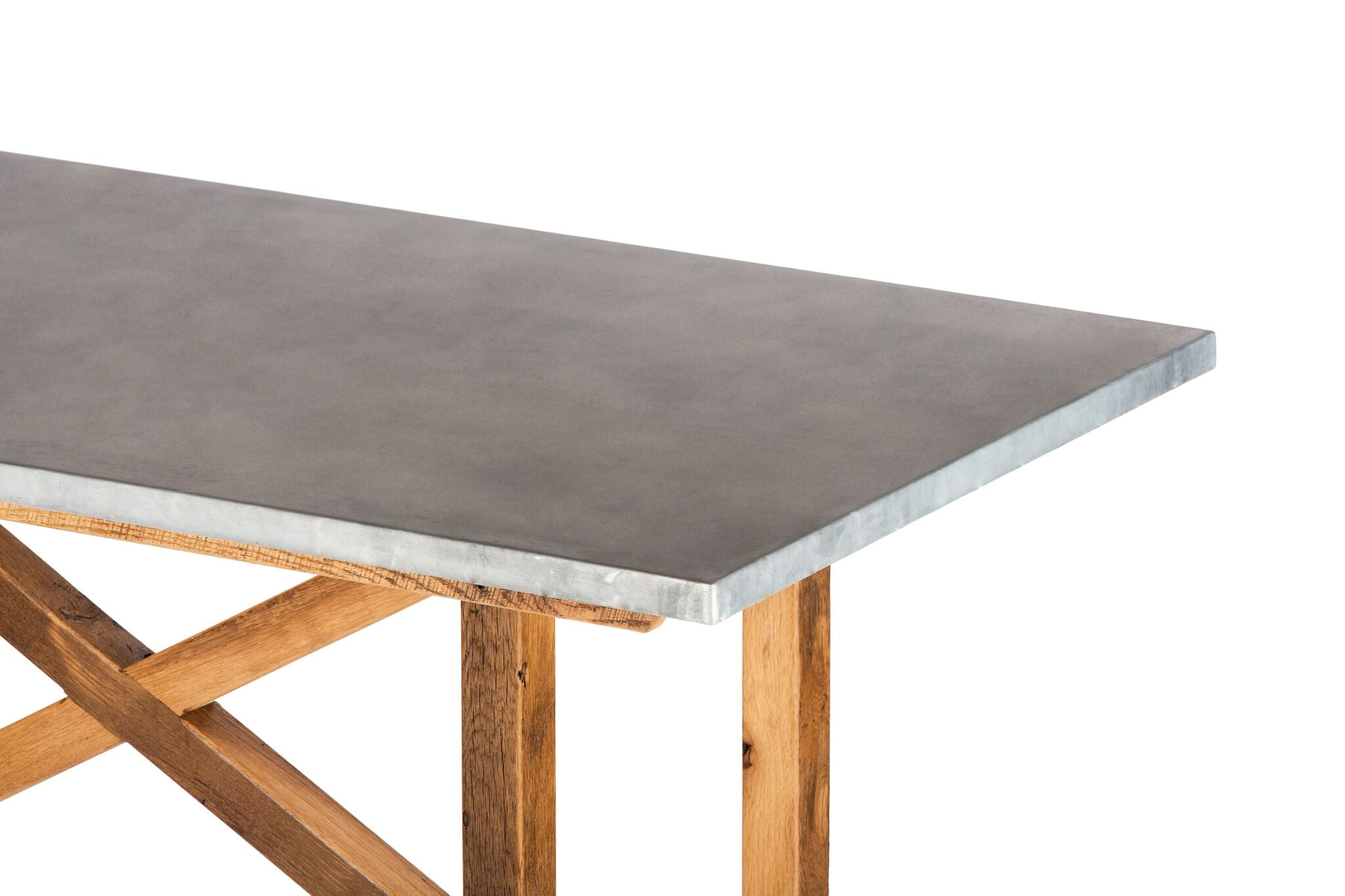 "Zinc Rectangular Table | Astor Table | BLACKENED BRONZE | Natural Black Walnut | CUSTOM SIZE 60""L 30""W 30""H 