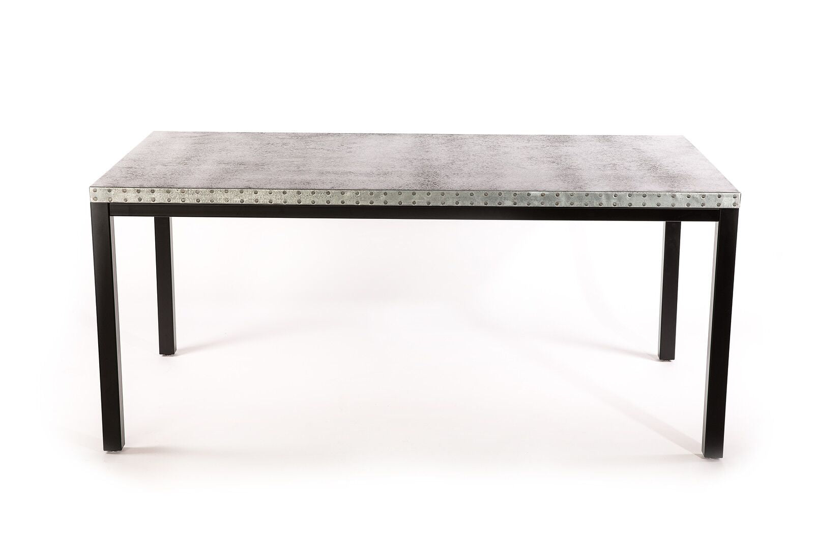 "Zinc Rectangular Table | Brooklyn Table | BLACKENED BRONZE | Black | CUSTOM SIZE L 72 W 37 H 30 | 1.5"" Standard 