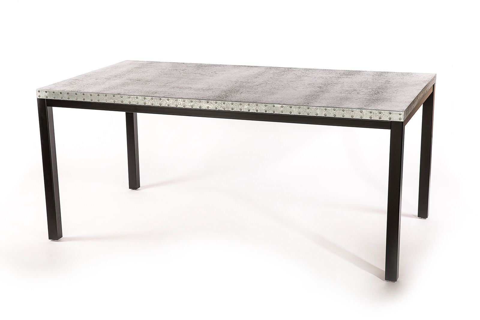 "Zinc Rectangular Table | Brooklyn Table | CLASSIC | Black | 120""L 40""W 30""H 