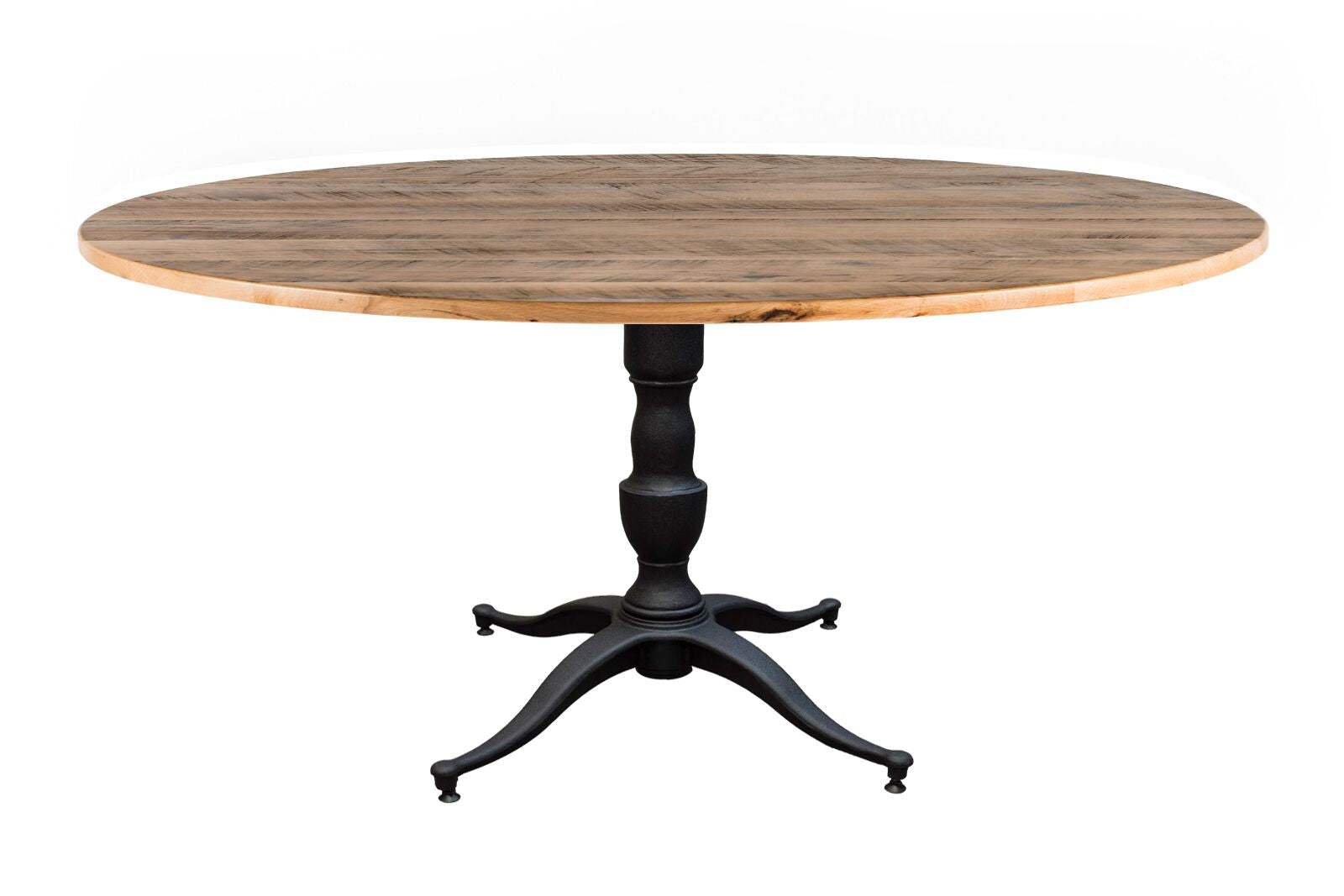 "Round Wood Tables | Francesca Table | Natural Ash | Black on Poplar | Diameter 36 |  Height 30 | 1.5"" Standard kingston-krafts-zinc-tables."