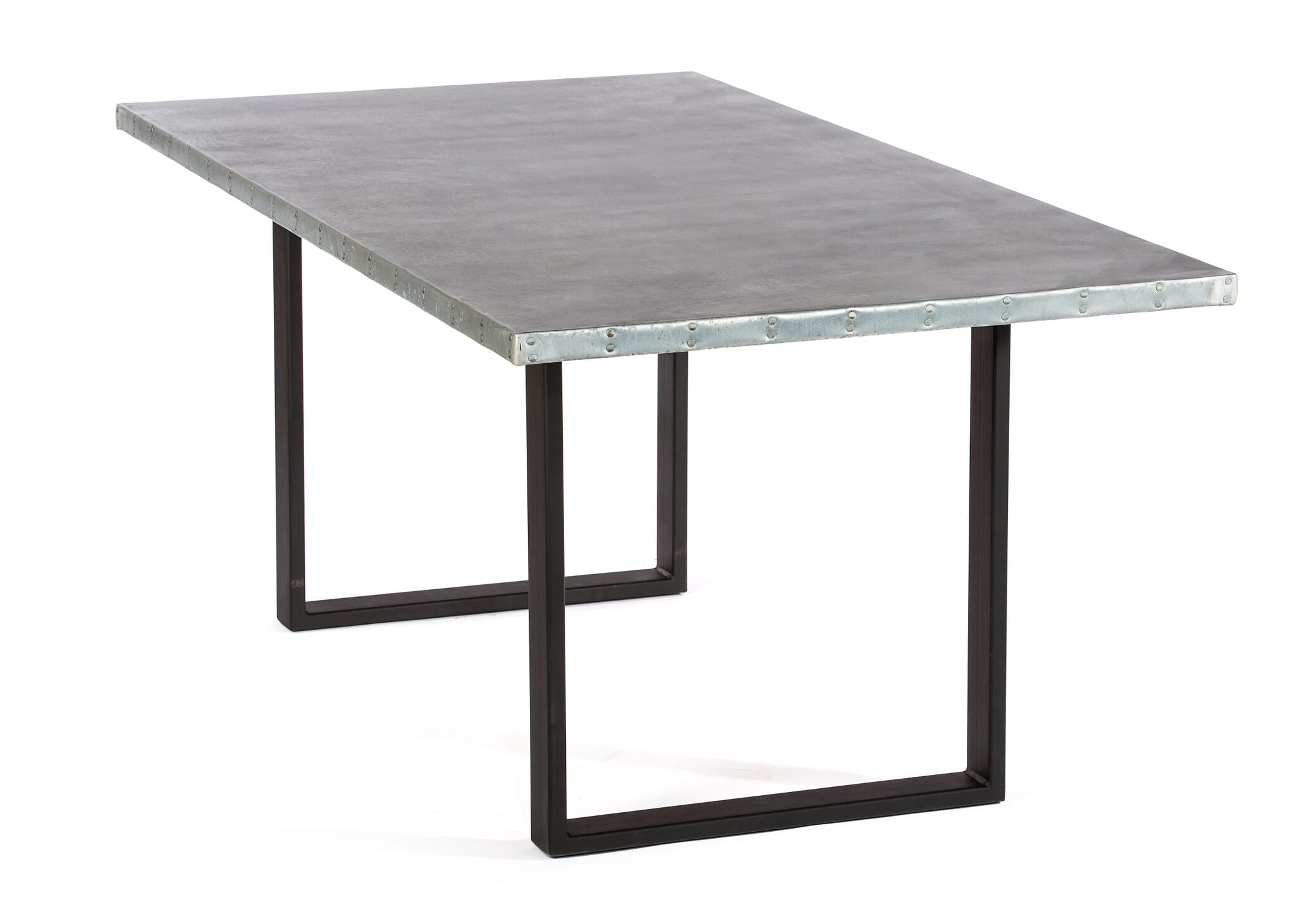 "Zinc Rectangular Table | Maddox Table | CLASSIC | Black | 84""L 39""W 30""H 