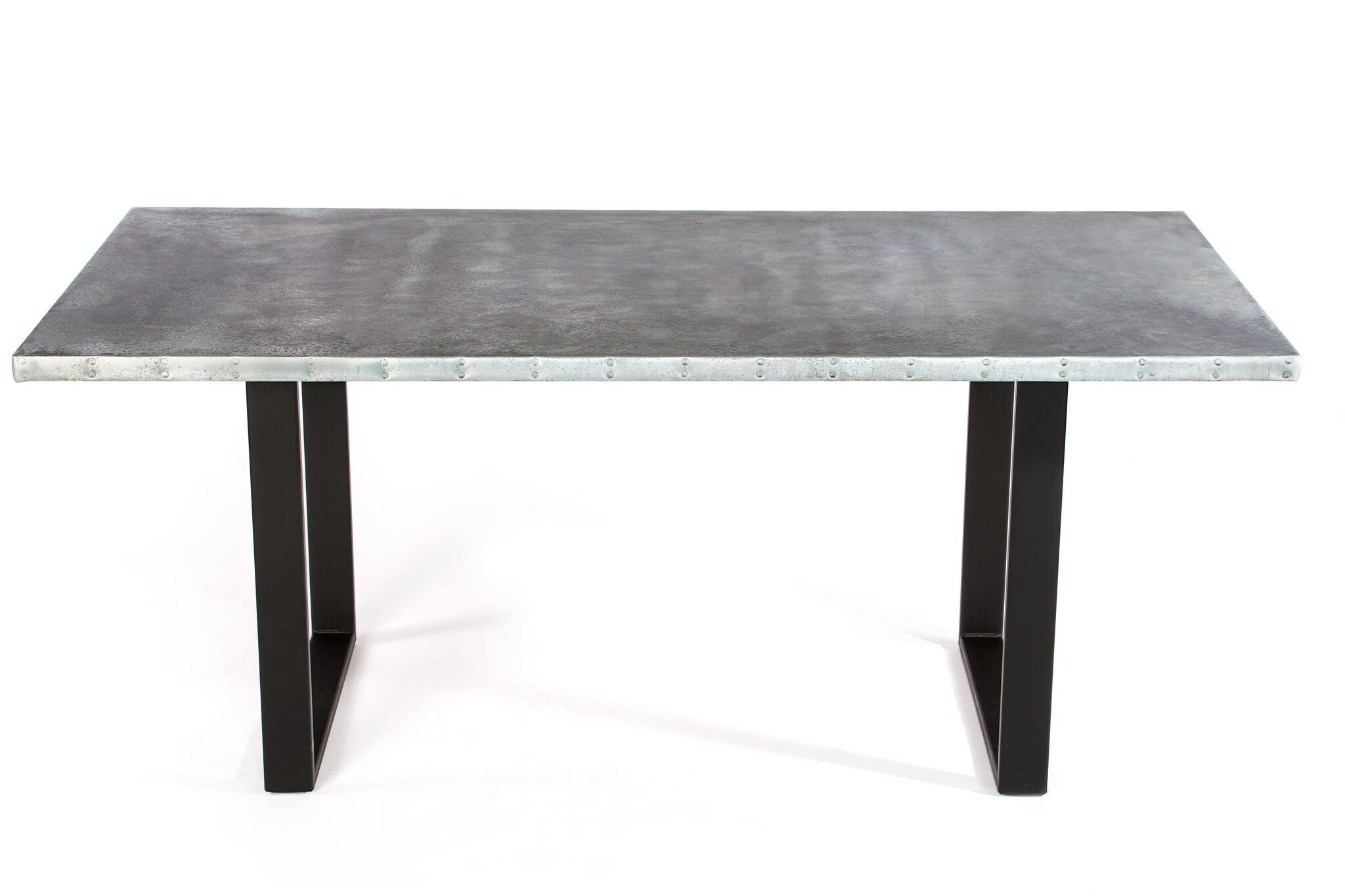 "Zinc Rectangular Table | Maddox Table | BLACKENED BRONZE | Black on Steel | CUSTOM SIZE L 72 W 37 H 30 | 1.5"" Standard 