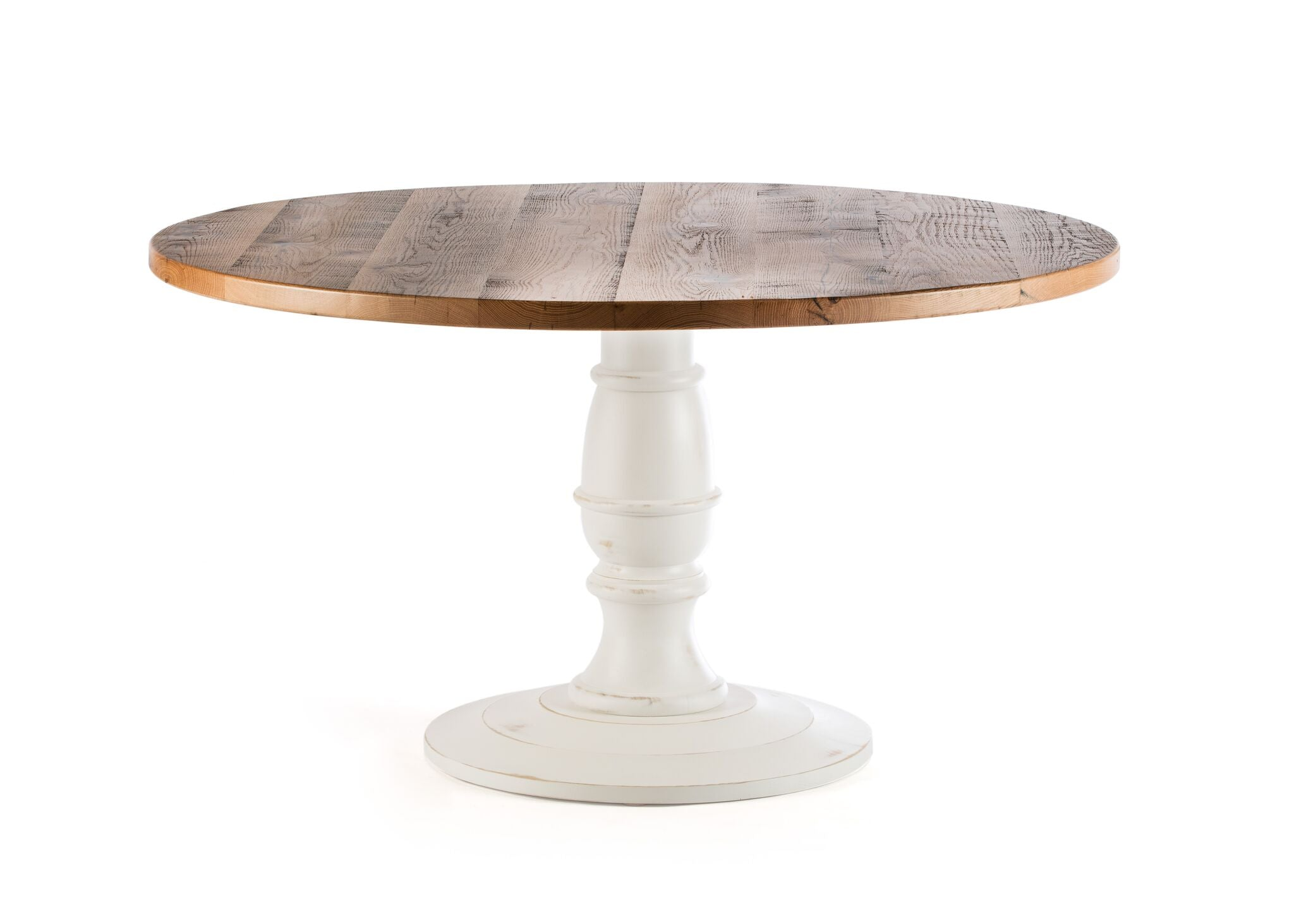 "Round Wood Tables | Providence Table | Driftwood Grey | Driftwood Grey | 42""D 30""H 