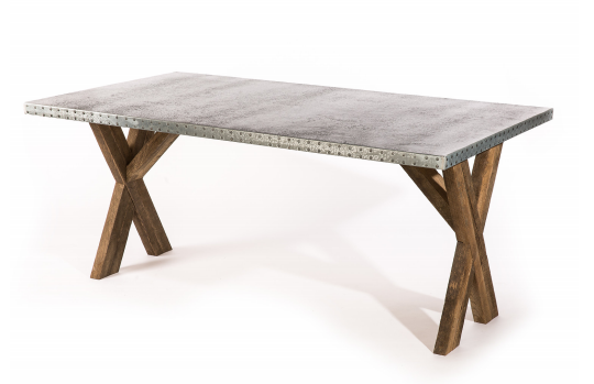 X Base Trestle - Rectangular kingston-krafts-zinc-tables.