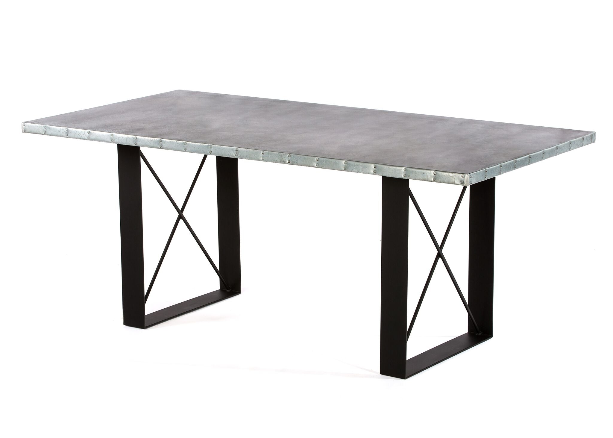 "Zinc Rectangular Table | Soho Table | CLASSIC | Black | CUSTOM SIZE L 60 W 37 H 30 | 1.5"" Standard 