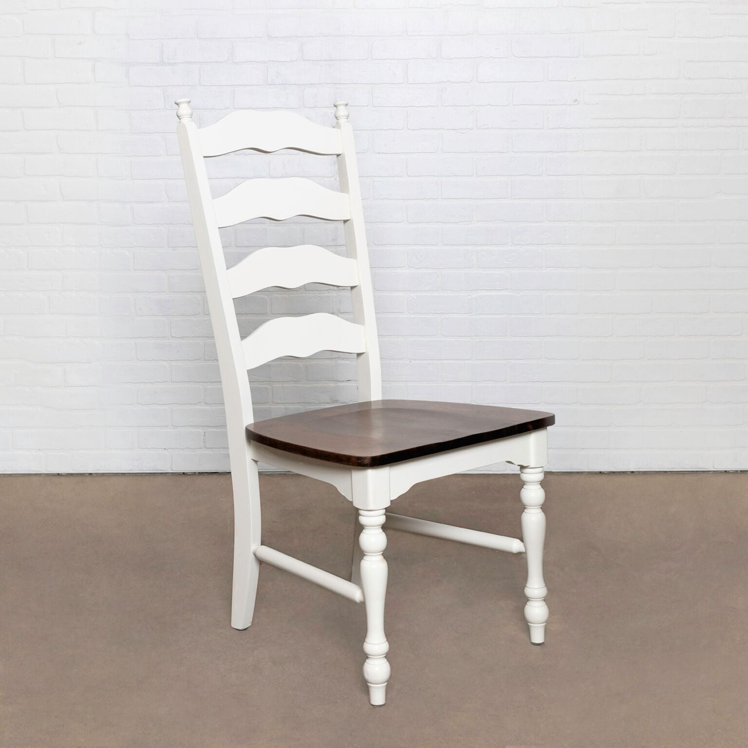 Seating | The Lakeland Chair | Antique White Distressed | WW SKU: C-2170B  and KK SKU: LAK-DC-1, Width: 19.75, Depth: 18, Height: 20, Weight: 20 | Wood |