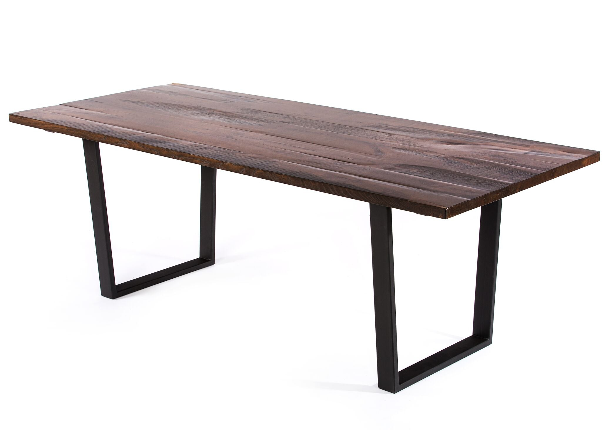 "Wood Tables | Trenton Table | Natural Ash | Black on Steel | CUSTOM SIZE 60""L 37""W 30""H 