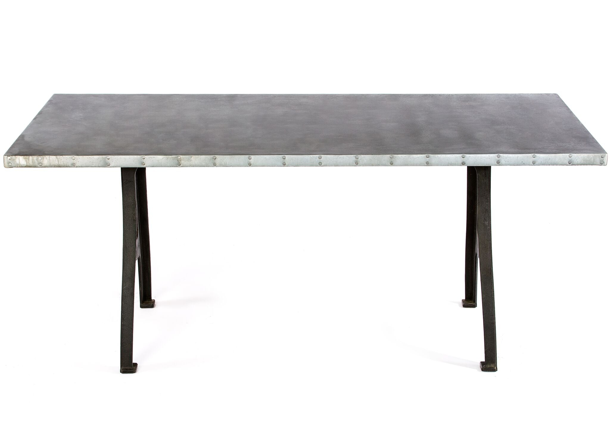 Zinc Rectangular Table | Williamsburg Table | CLASSIC | Black | CUSTOM SIZE L 60 W 37 H 30 |