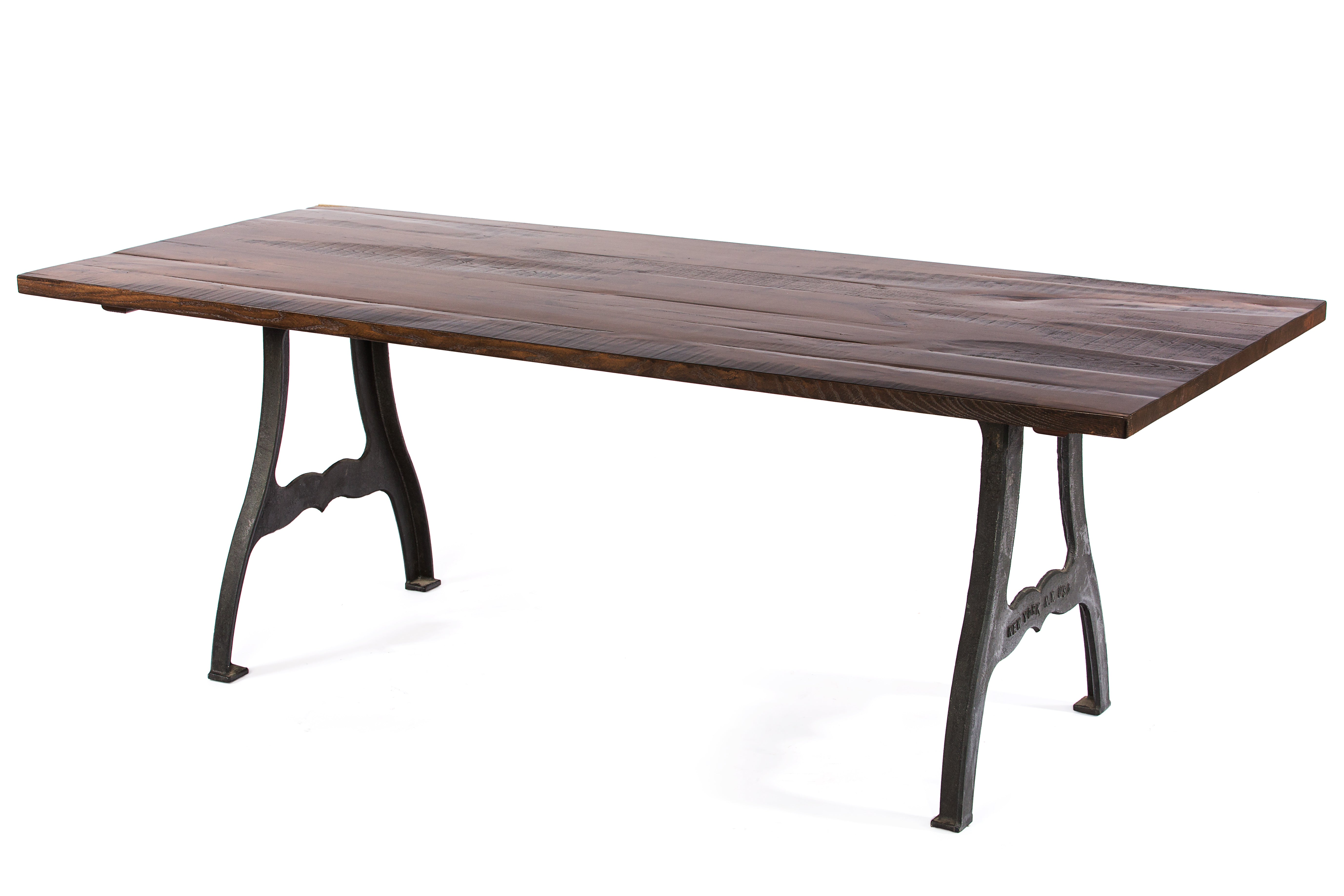 Wood Tables | Williamsburg Table | Natural Ash | Black | CUSTOM SIZE L 108 W 30 H 30 | 2""