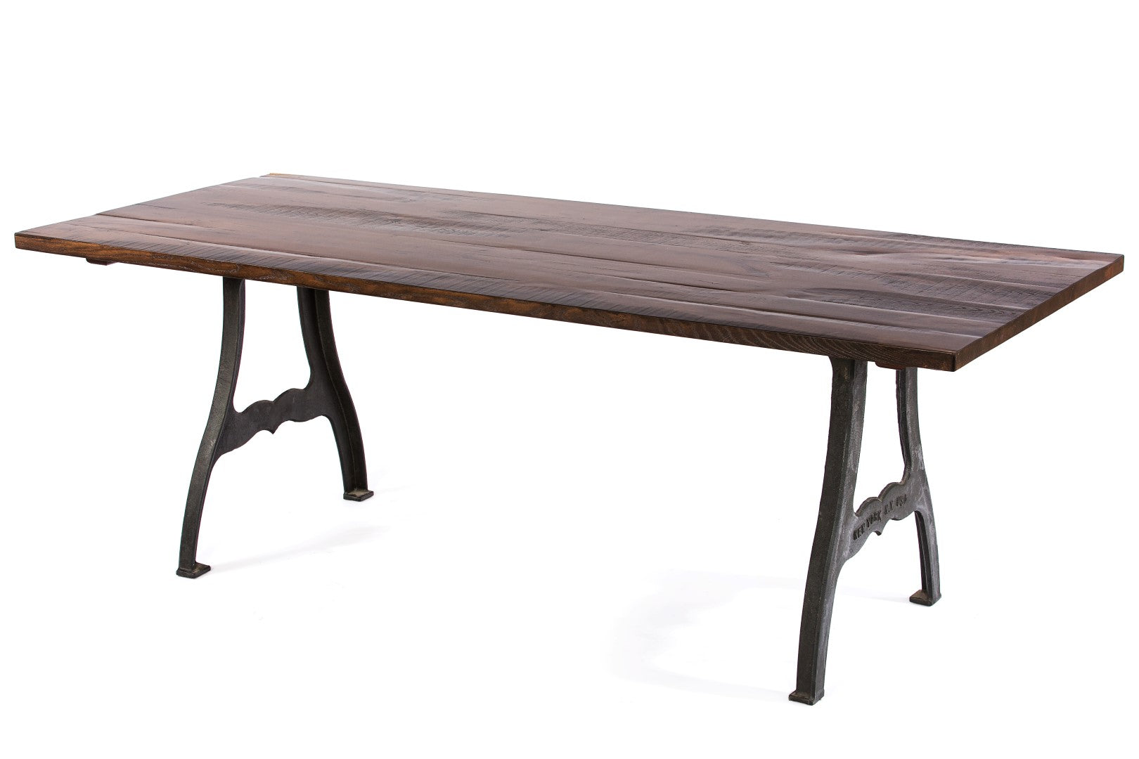 "Wood Tables | Williamsburg Table | Espresso Ash | Pure White | CUSTOM SIZE L 96 W 30 H 30 | 1.75"" kingston-krafts-zinc-tables."