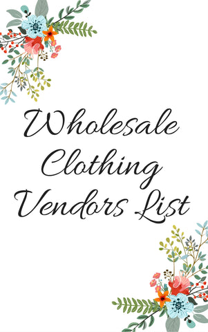 WHOLESALE VENDORS FOR YOUR ONLINE STORE