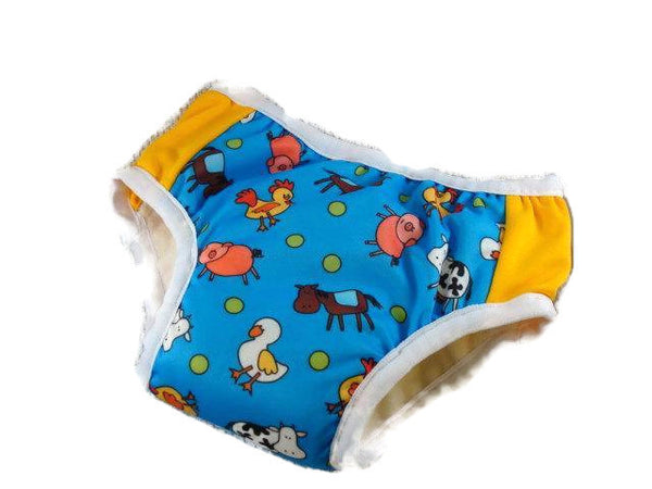 Nighttime Fully Waterproof TODDLER Boys Training Pants with Bamboo, Organic Cotton Soaker - Custom Colors