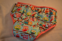 PREMIUM - NEW COLOR Cotton Toddler Girls Training Underwear with Waterproof Pad - Colorful Owls - Owls  3122