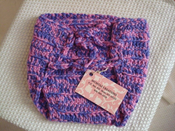 Wool Soakers - Custom Wrap Style Diaper Cover - Pink Purple 82