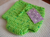 Newborn Handmade Wool Soakers - Original Shortie - Lime Green 84