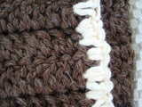 Undyed Wrap Wool Soaker, Diaper Cover with Cotton Trim - Baa Baa Brown