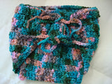 Custom Designed Hand Dyed Soft Wool Wrap Soaker Diaper Cover - Small - Teal Troll 197