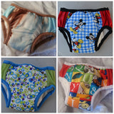 IN STOCK - Waterproof Toddler Boys Training Underwear with Bamboo, Organic Cotton Soaker - Size 18M Boys - Choose One Color