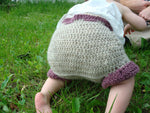 Shortie Natural Wool Soaker, Cloth Diaper Cover - Choose Your Trim Color  - Oatmeal