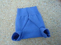 Upcycled Merino Wool Unisex Shortie Soakers, Diaper Cover - Periwinkle 643