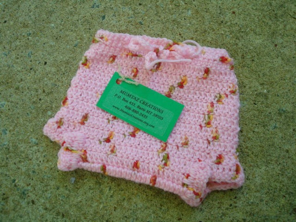 Newborn Baby Girls Wool Shortie Soaker Diaper Cover - Strawberry 506