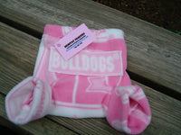 Girly Collegiate Fleece Shortie Soaker Diaper Cover for Infants - Univ of Georgia 716