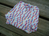 SALE - Patriotic Colors Infant Crocheted Wool Shortie Soaker Diaper Cover - Daybreak 521