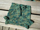 Hand Painted Wool Angora Crochet Shortie Soaker Diaper Cover for Toddler Boys - XL 2-4 years - Tree Tops 883