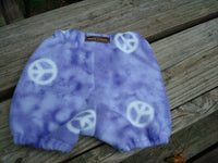 Polar Fleece Shortie Soaker Diaper Cover for Infant Girls - Peaceful Purple 956