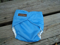 Lightweight, Waterproof Toddler Wrap Diaper Cover with Rear Pocket in Your Color Choice - Swim Diaper