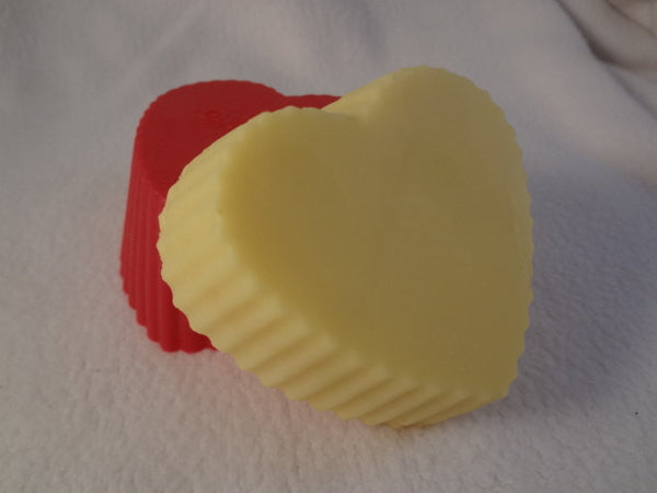 All Natural Cocoa Butter Lotion Bar for Dry Skin - Lightly Lavender Scented - Love Heart G670