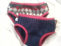 Upcycled Wool Trainer - Toddler Boys Nighttime Bedwetting Training Underwear - Navy Burgundy - Jack 3081