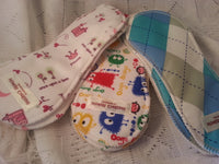 Waterproof Cloth Mama Pads - Reusable Menstrual or Incontinence Mini Pads - Soft Organic Bamboo Lining - Color Choice - H333