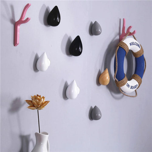 1 Pcs Wall Hanger Wood Wall Hanger Chic Water Drop