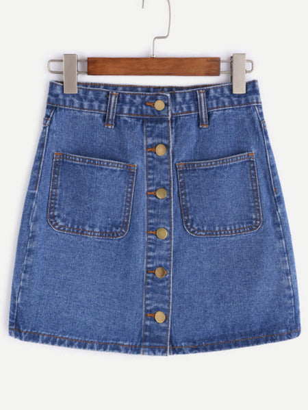 Fray Hem Denim Shorts