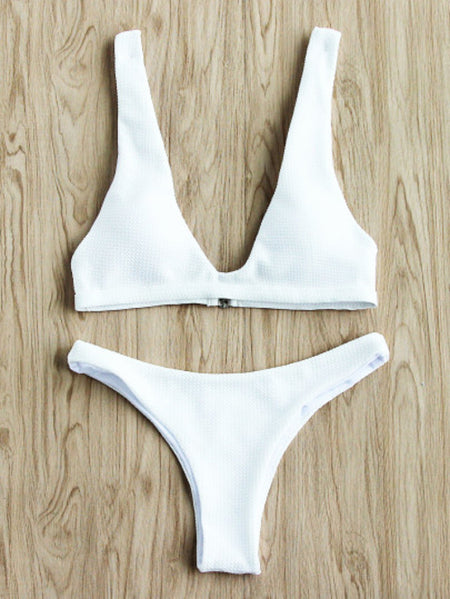 Ladder Cutout Side Tie Bikini Set