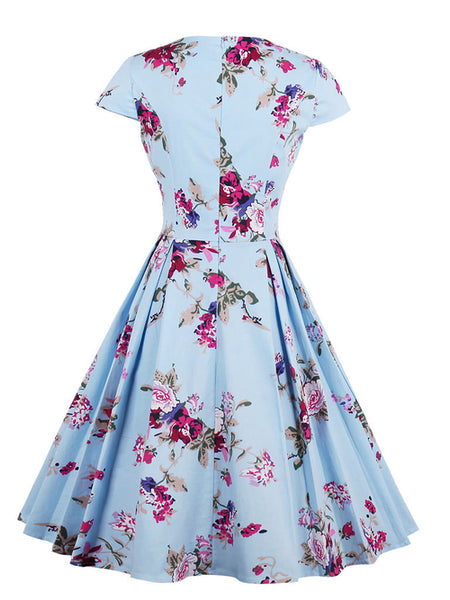 All Over Florals Circle Dress