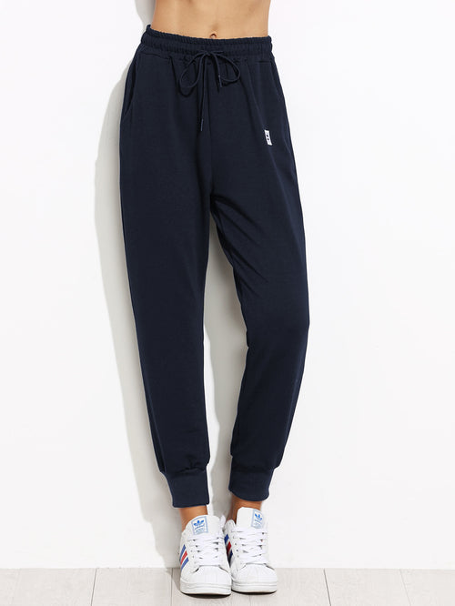 Patch Detail Jogger Pants