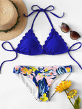 Scallop Edge Mix and Match Bikini Set