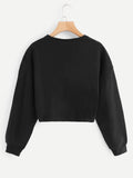 Beaded Twist Front Sweatshirt