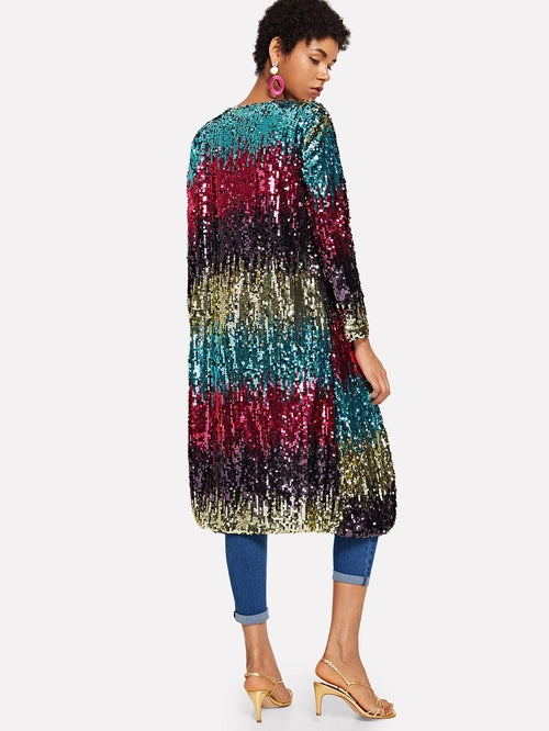Sequin Open Front Outerwear