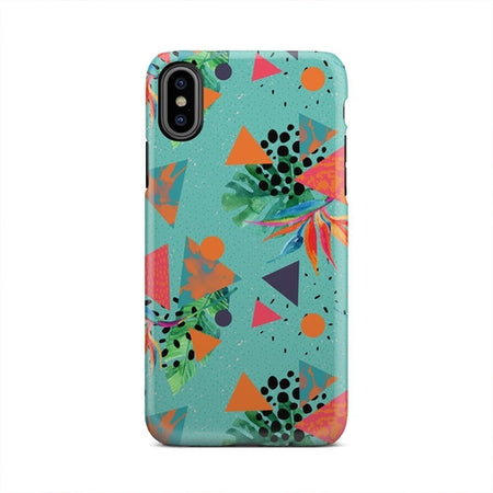 Colorful Fall Leaves Windy Pattern iPhone X Case