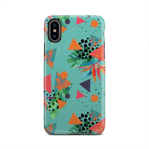 Beach Palm Trees Geometric Triangles iPhone X Case