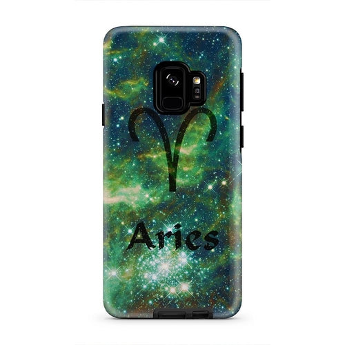 Aries Blue And Green Celestial Storm iPhone X Case