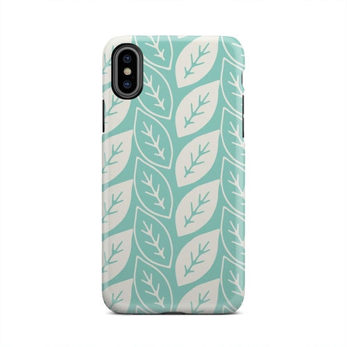 Sea Green And White Tropical Falling iPhone X Case