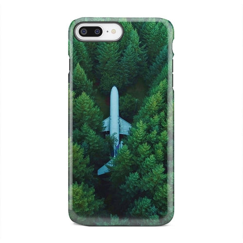 Plane In Vast Green Forest Dense Woods iPhone X